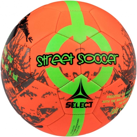 Мяч футбольный SELECT Street Soccer New (207) оранж/зел, размер 4,5