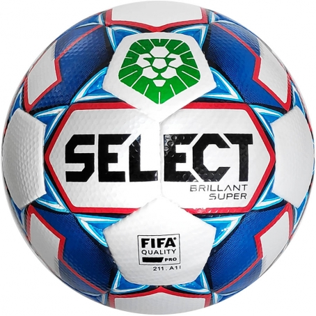 Мяч футбольный SELECT BRILLANT SUPER FIFA PFL (012), бел/синий  р.5