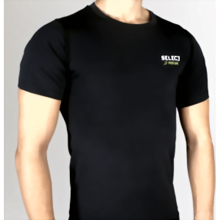 Термобельё SELECT Compression T-Shirt with short sleeves 6900 черный p.L